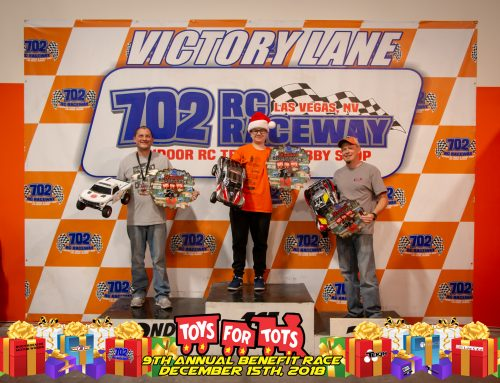2019 9th Annual Toys for Tots Benefit Race – 1st Place Spec Slash, 4th Place Expert SCT, 5th Place Expert 17.5 2wd Buggy